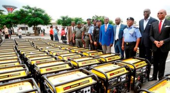 'But APC promised us light' — Twitter bashes Ambode for donating generators to police