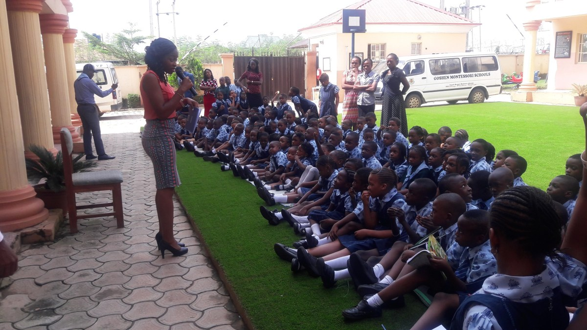 A 'chic' takes the message of safety to Nigerian schools