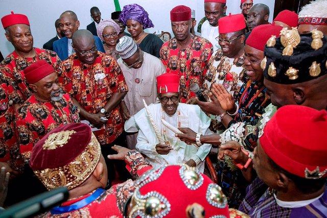 Image result for Dave Umahi and Buhari