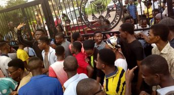 PHOTOS: A protest by medical students? Very rare but currently happening in UI