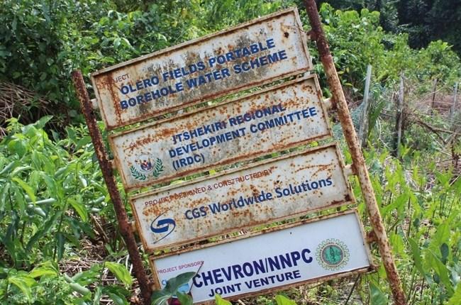 Itsekiriland Chevron Abandoned projects