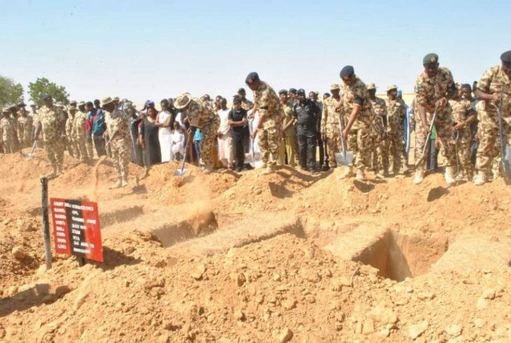 Tears, prayers as army buries soldiers who died in recent Boko Haram attacks