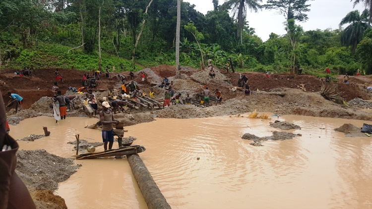 Illegal Gold mining in Osun