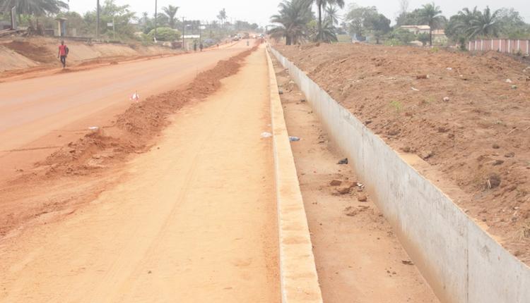 Works ongoing at the Bende-Arochukwu-Ohafia Road. Photo by Patrick Egwu