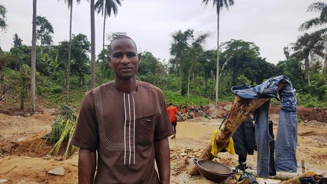 Rabiu Mohammed, a father of four left Daura, Katsina State in 2016 for Osun to take up artisanal gold mining. Photo Credit: Olugbenga Adanikin, The ICIR