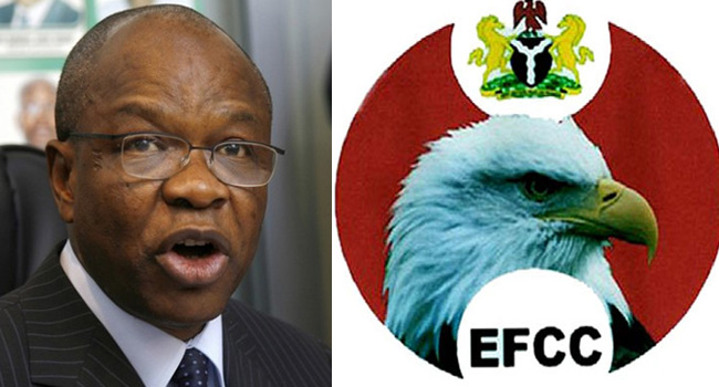 EFCC alleges Maurice Iwu, former INEC Chairman, of 1.2 bn fund. Photo Credit: ChannelsTV.