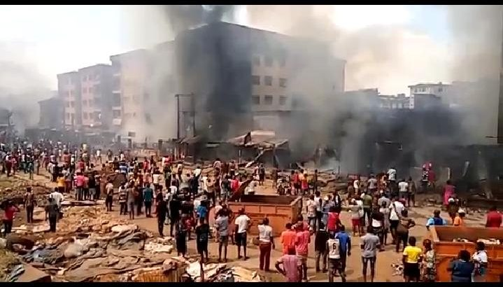 Image result wey dey for Ochanja Market Fire: Federal Fire Service Expresses Condolences Says Heavy Traffic, Angry Mob Made Rescue Effort Difficult