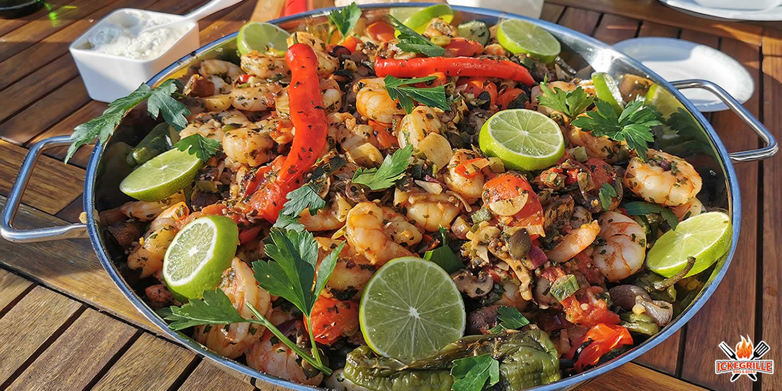 Garnelen grillen BBQ Shrimps