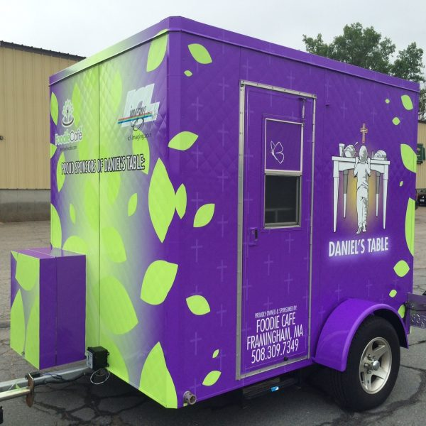 Foodie Cafe Hot Dog Trailer. Food Cart Graphics by ICL Imaging