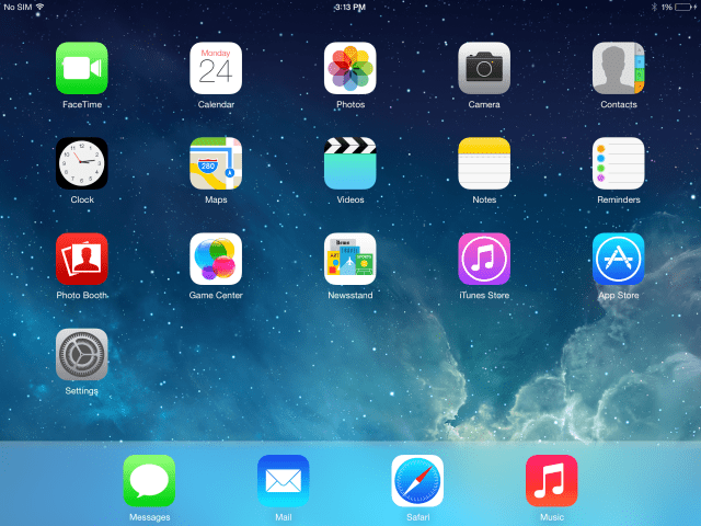 This is What iOS 7 Looks Like on the iPad [Images] - iClarified