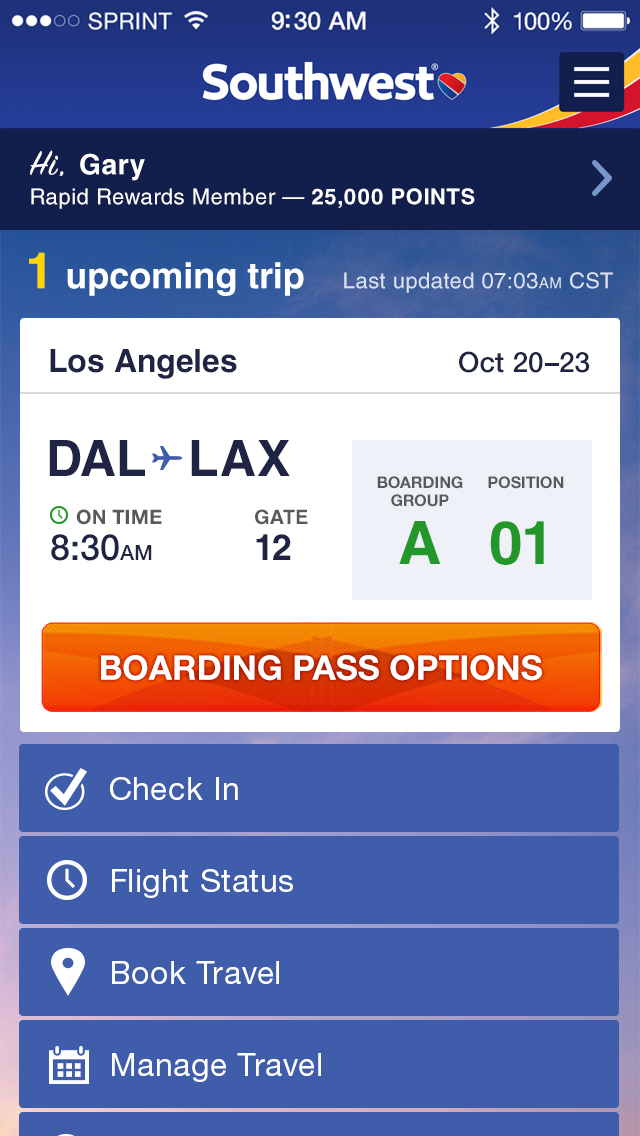 Southwest Airlines App Finally Gets Updated With Passbook