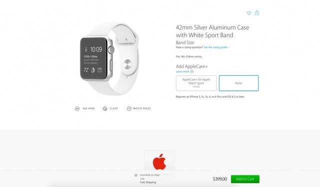 Shipping Estimates for Every 42mm Apple Watch and Apple
