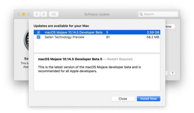Apple Releases macOS Mojave 10.14.5 Beta 5 [Download]