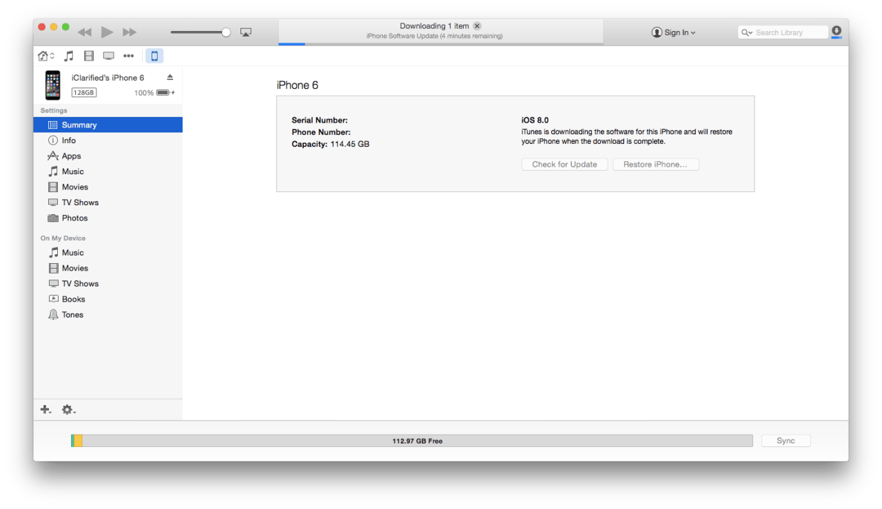 Restore Your iPhone to Factory Settings Using iTunes [Mac