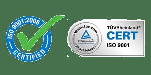 ISO 9001:2008 de calidad certificado por TüvRheinland
