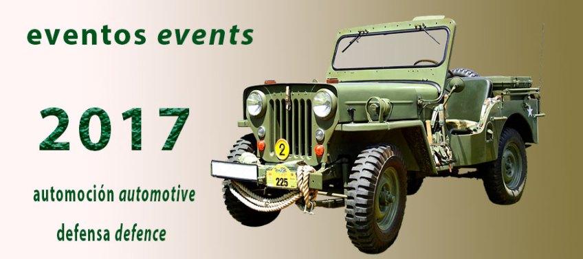Ferias de automoción y defensa, diciembre 2017