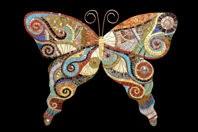 large kitchen rug fifth wheel with outdoor glass butterfly | irina charny mosaics