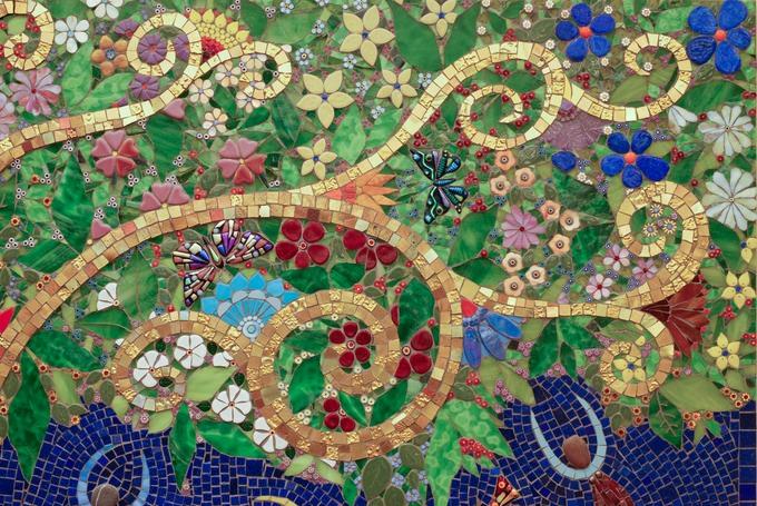 Tree of Life  detail  Irina Charny Mosaics