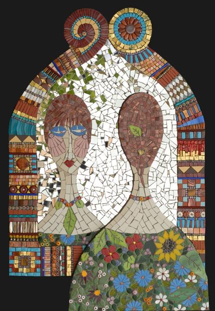 Mirrror Image II  Irina Charny Mosaics