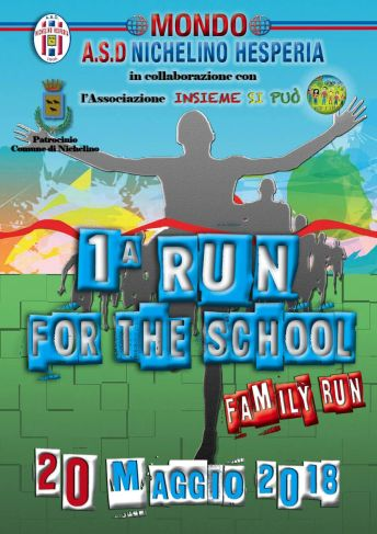 RUN FOR THE SCHOOL 2018 volantino