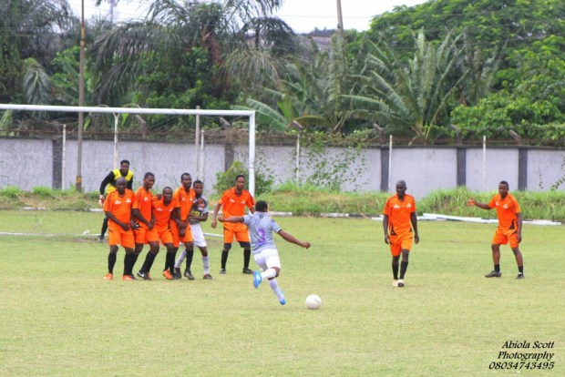 Action in the Ogba-Agege vs. Surulere Semi-final match
