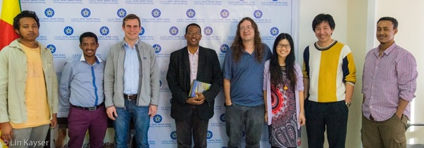 Deputy Minister of Science and Technology (between Lin Kayser and Ben Goertzel): Photo courtesy of Lin Kayser