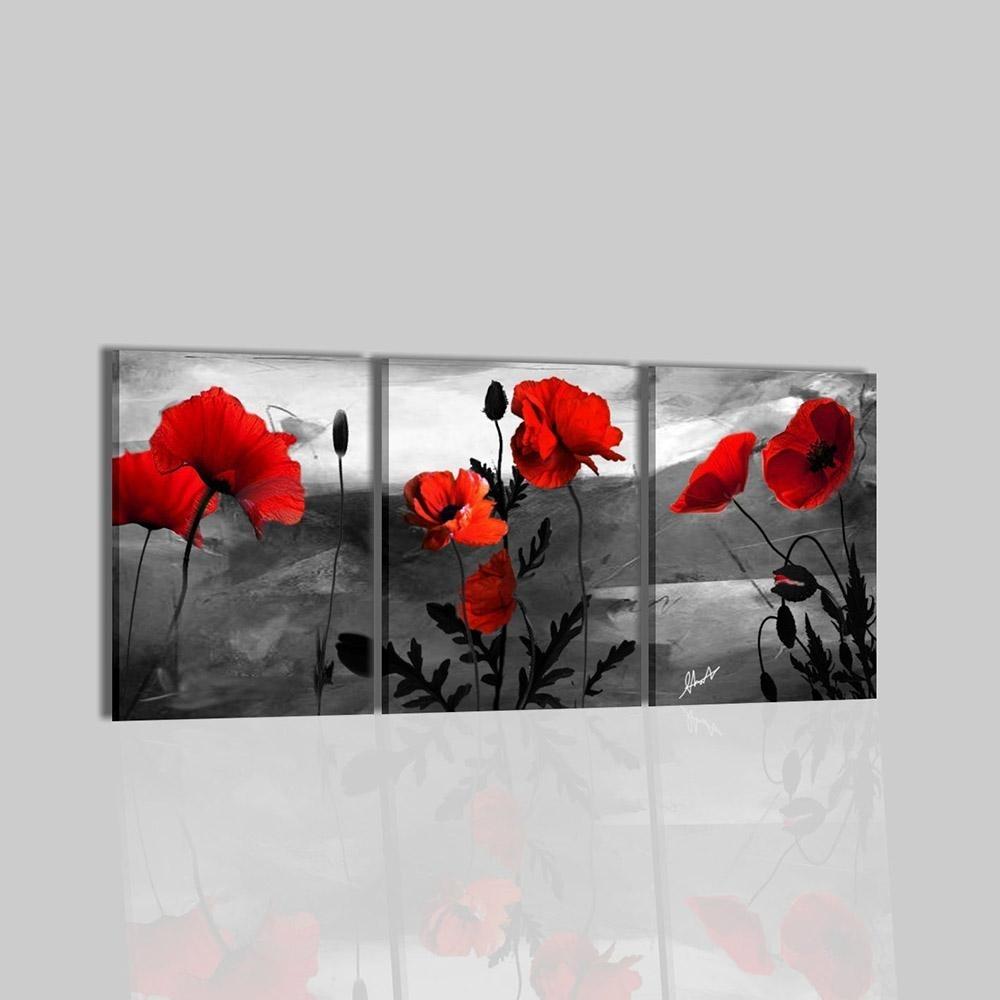 Quadri moderni trittici dipinti a mano con fiore  Casilda