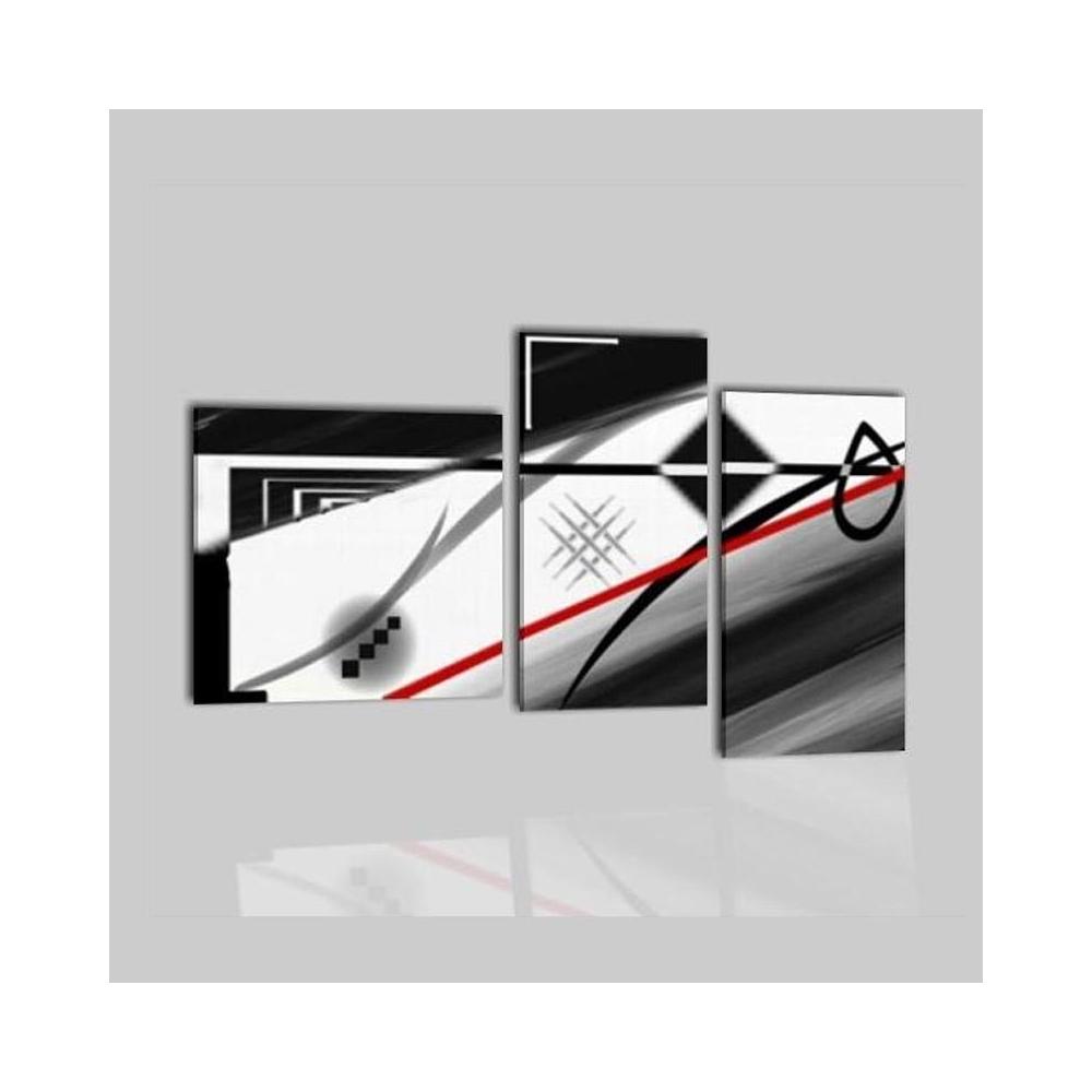 Quadro astratto composto con colori bianco e nero  Navis