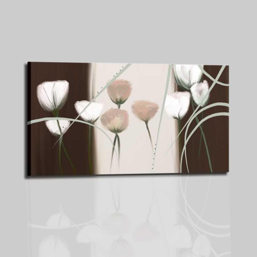 Cuadros modernos con flores para decorarar dormitorios