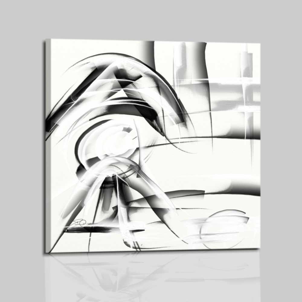 elegante e raffinato quadro astratto in bianco e nero  Abbey