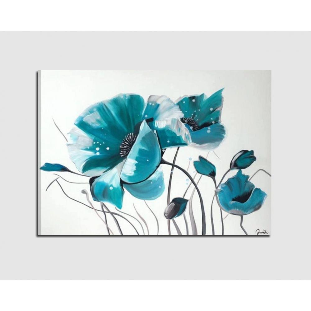 Quadri dipinti a mano su tela con rappresentazione di fiori