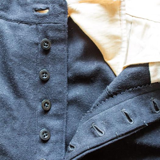 dublin charity shops vintage pants close up