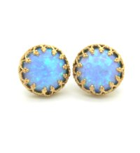 Hand Crafted 14k Yellow Gold Filled Stud Earrings With ...