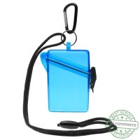 New WITZ See It Safe Waterproof ID/Badge Holder Case Blue