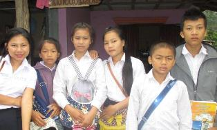 Six children from Laos cannot attend their local school because they are from Christian families.