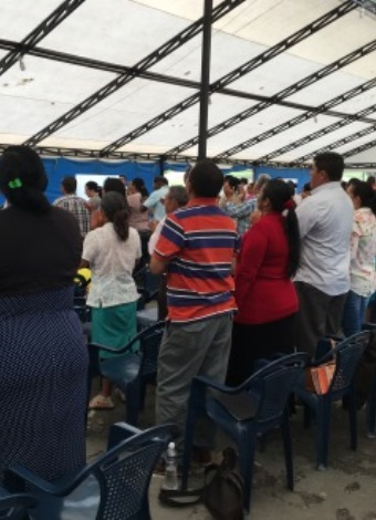 Church leaders in Colombia gathered to attend a conference.