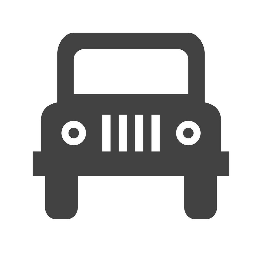 jeep glyph icon