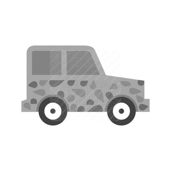 jeep ii greyscale icon