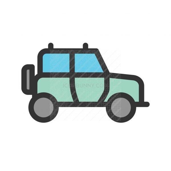 safari jeep line filled