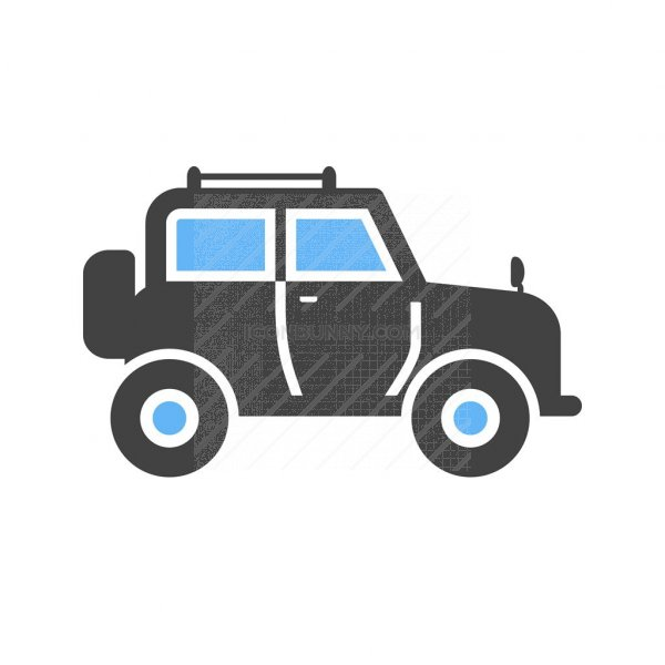 safari jeep blue black