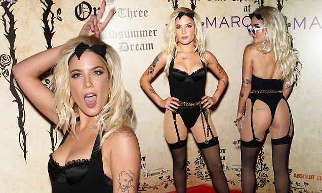 Halsey Wears UNDERWEAR to Vegas Party! image