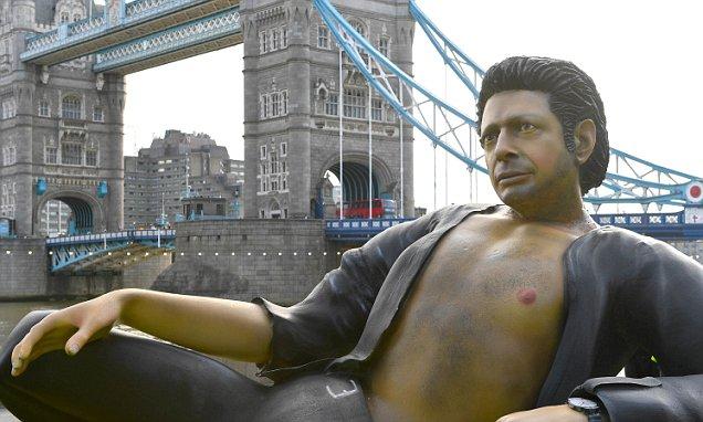 Nude Jeff Goldblum Statue Erected in London Park! image