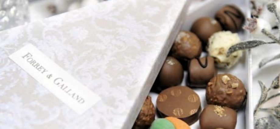 Celebrate the festive season with Forrey & Galland's exquisite collection of handcrafted chocolates