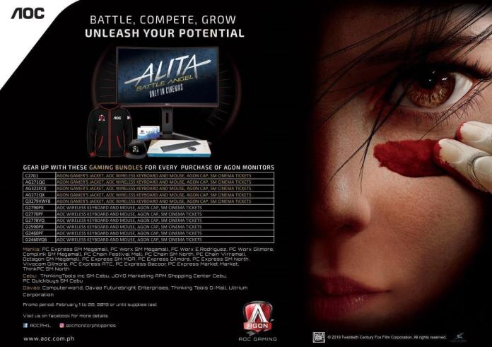 AOC Partners with 20th Century Fox's Alita: Battle Angel