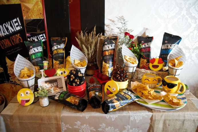 Wackie Corn Chips Display