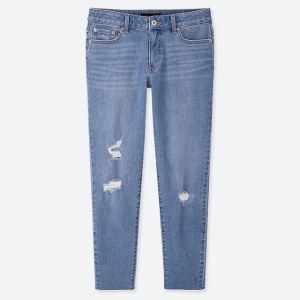 UNIQLO Women's Mid Rise Relaxed Tapered Ankle Jeans