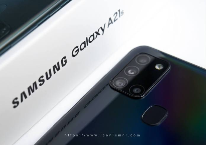 Samsung Galaxy A21s - L-shaped quad-rear camera setup