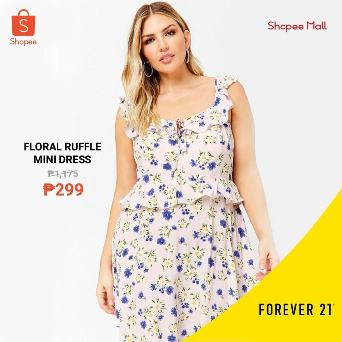 Shopee x Forever 21 - Floral Ruffle Mini Dress
