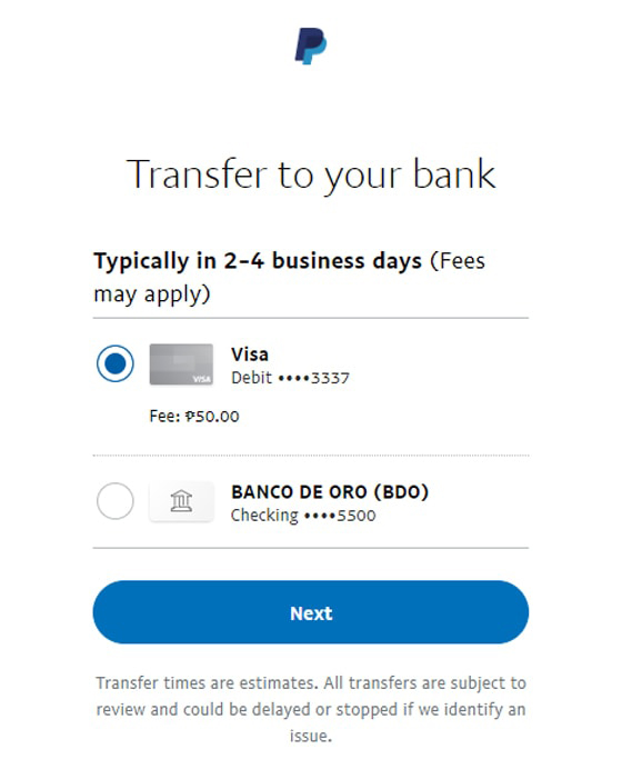 Transfer From Paypal To Paymaya - Transfer to your bank