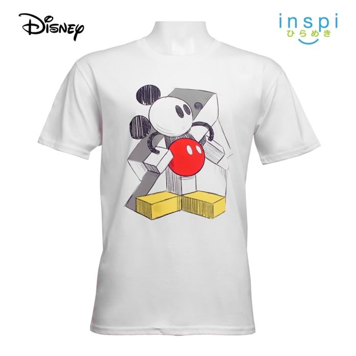Disney Mickey Mouse Abstract Graphic Tshirt in White
